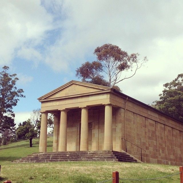 A classical Greek temple in the wilderness. Just 20 minutes out of Hobart. 'Ancanthe' was built by Lady Jane Franklin in 1842 at the lack of cultural institutions when she arrived in Hobart. #hobart #history #tasmania #discovertasmania Image Credit: _phoebepower