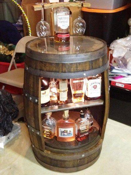 Reclaimed Bourbon Barrel Bar - by Justin @ LumberJocks.com ~ woodworking community More