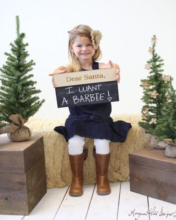 Dear Santa Christmas Chalkboard Sign Photo Prop Family Photos (Item Number 140404) Sale!!