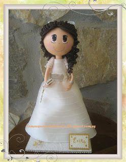 Doll communion cake topper .