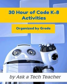 30 K-8 coding activities for Hour of Code, organized by grade. Aligned with ISTE and CC, with 138 images. Lots of options to differentiate for student needs. Includes domain-specific vocabulary, problem solving, assessment strategies, EQ and BI, teacher prep, and step-by-step instructions.