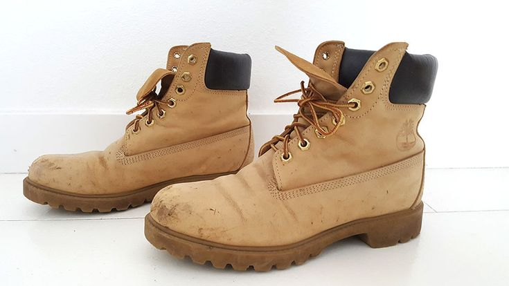 Timberland Mens Boots Size 6.5W Wheat Nubuck Style 10061 Worn Distressed Leather #Timberland #AnkleBoots