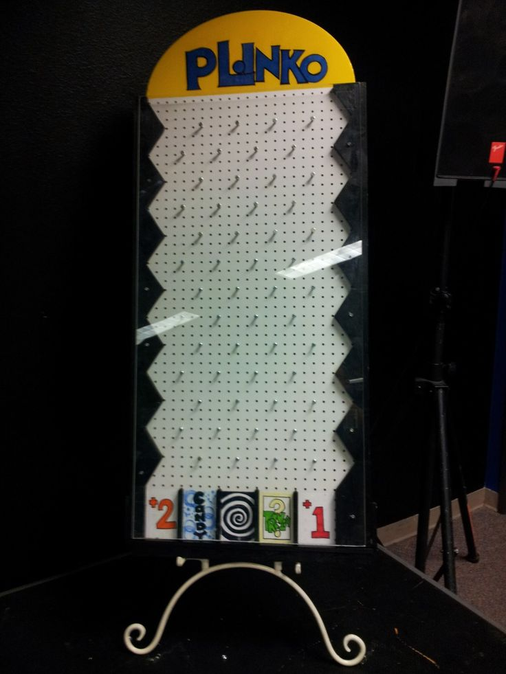 Step by step instructions on building your own Plinko game - for fall festivals or carnivals
