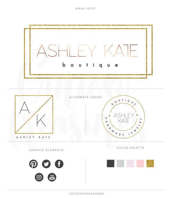 Minimalist branding kit by CutiexoTreasures on Etsy