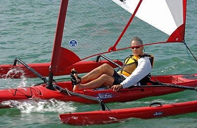 Hobie #adventure island sit on top sailing #kayak #canoe red oar peddle sail,  View more on the LINK: http://www.zeppy.io/product/gb/2/331872528483/