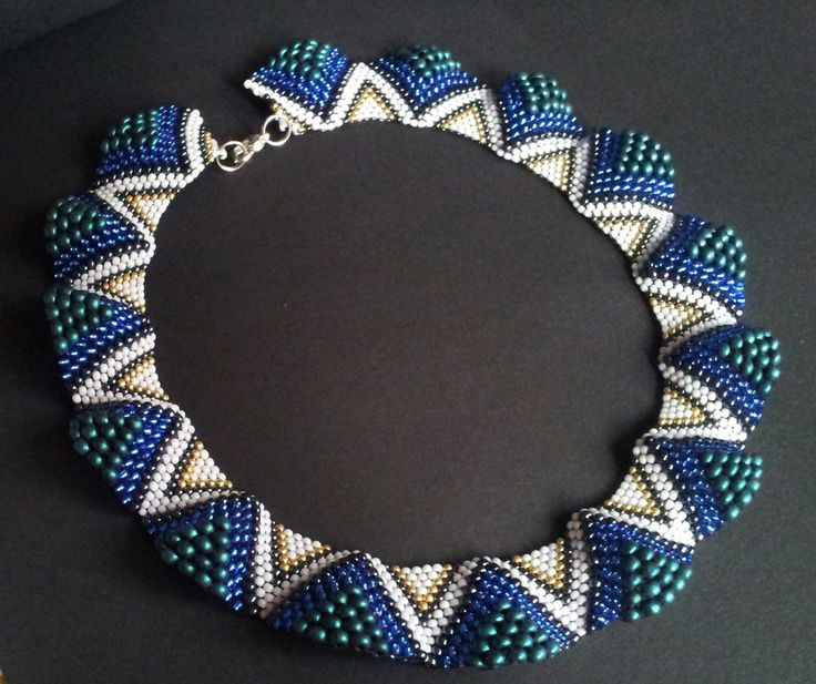 Beautiful peyote stitch bracelet