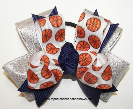 Basketball Pigtails. Basketball Ribbons, Basketball Ponytail