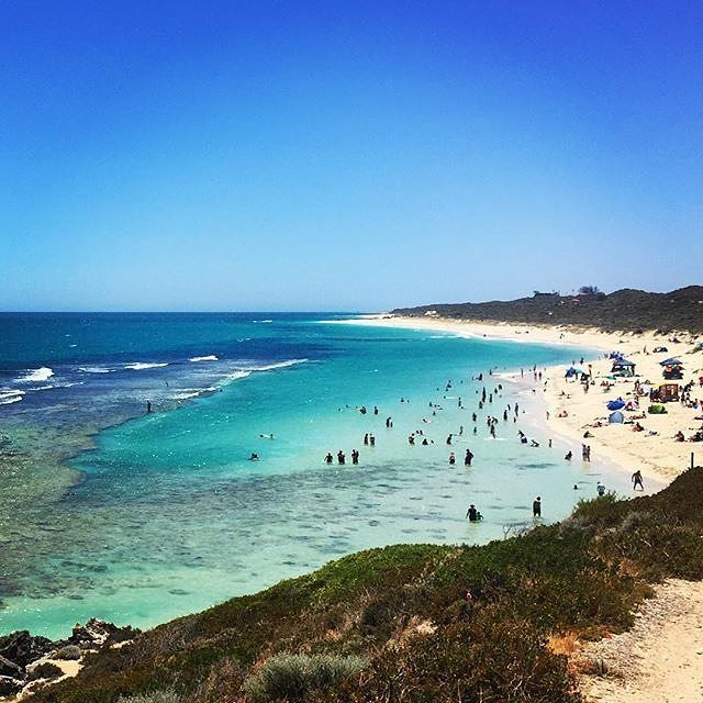 Less than an hour's drive from @experienceperth CBD? Yep - this is #Yanchep Lagoon in @westernaustralia and it boasts a fringing reef with a calm lagoon perfect for swimming and snorkelling. With the warm weather #Perth's been getting lately now is a great time to head there for a day trip or weekend getaway. Your beachside bliss-out begins as soon as you arrive... shall we meet you there? Photo: @travelhub by australia