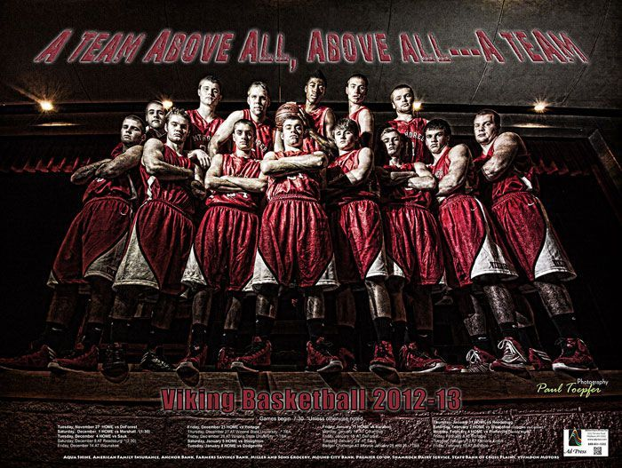 High School Team Poster Ideas | MT. Horeb Basketball Poster by Paul Toepfer Photography