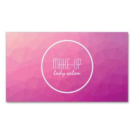 Carte de visite créatif d'artiste de maquillage