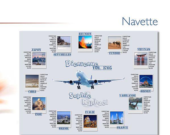 Plan de Table Mariage - Voyage - Navette