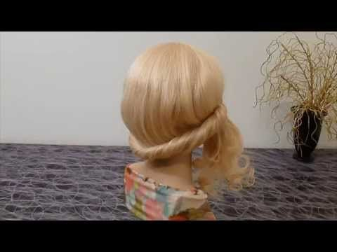 Причёска на средние, длинные волосы. Причёски своими руками  на каждый день ЛЕГКО и БЫСТРО - YouTube