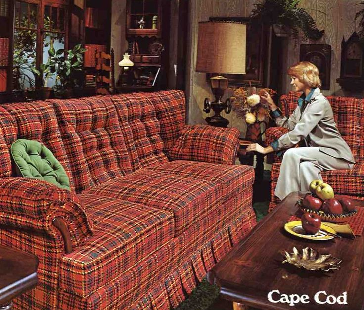 purple living room furniture sofas seafoam 70's colonial | mid century home decor ...
