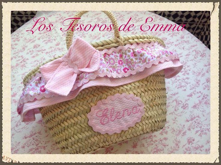 #mini #capazo, con bordado #artesanal y personalizado para las pequeñas de la casa.