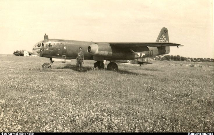 Arado Ar-234 Blitz, the first jet bomber of the world, seen here during WWII.