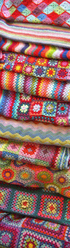lovely crocheted blankets!