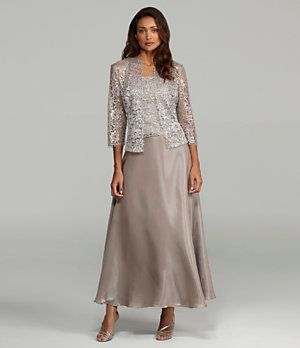 KM Collections Woman Lace Jacket Dress | Dillard's Mobile