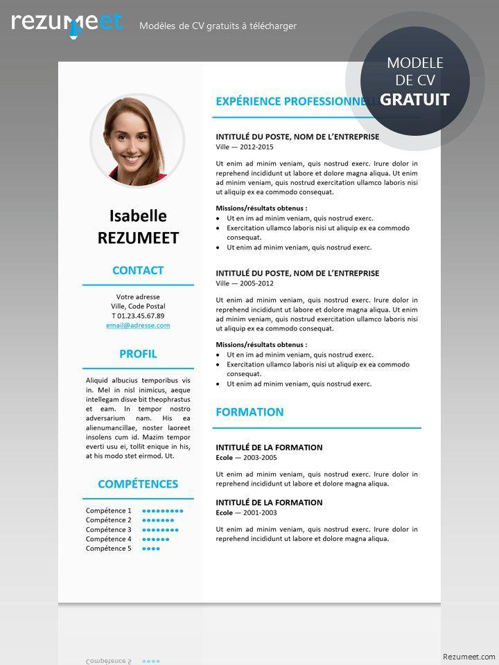 Cv Gratuit Resume Design Template Free Resume Template Free Job Resume Template