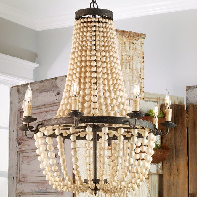 Check Out Iron And Wood Basket Candelabra Chandelier