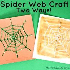 Two Spider Web Halloween Crafts