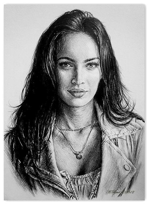 """""""Foxy""""  Graphite sketch of actress Megan Fox"""