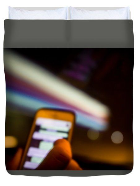 Will Be At Home In 5 Minutes Duvet Cover by Cesare Bargiggia