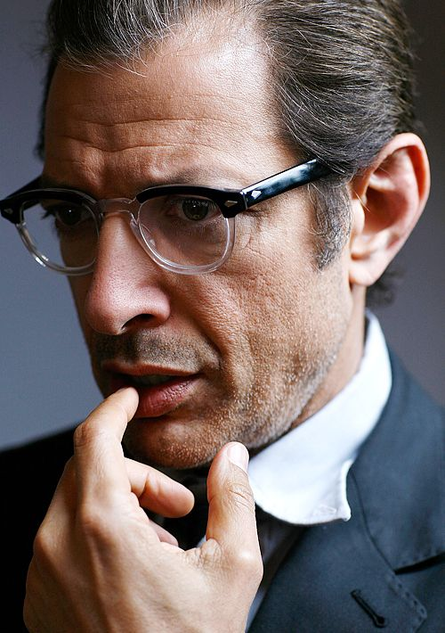 Jeff Goldblum. I fancy him and his glasses. <3
