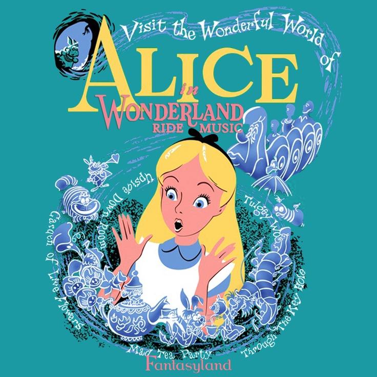 Alice in wonderland Disneyland ride music