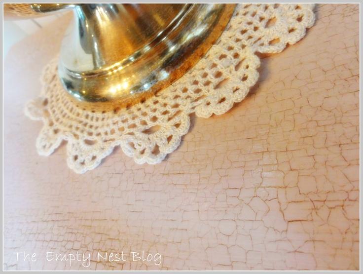 Crackled Antoinette Chalk Paint® decorative paint by Annie Sloan via The Empty Nest