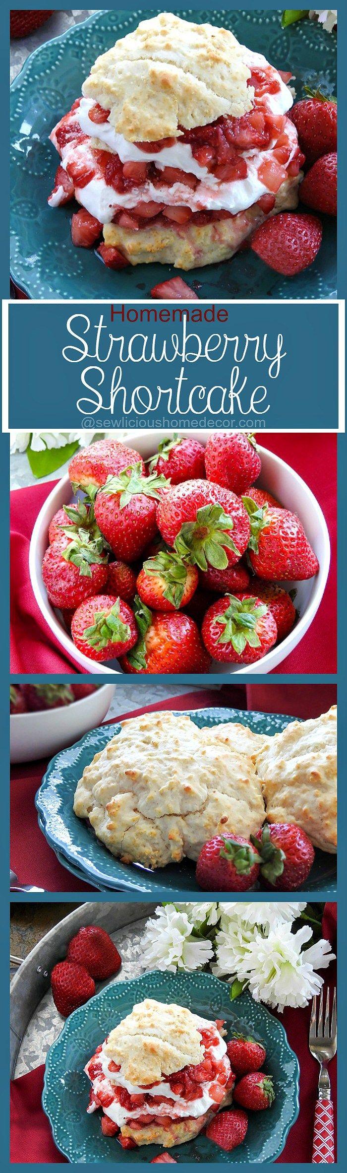 Homemade Strawberry Shortcakes with Cool Whip sewlicioushomedecor.com