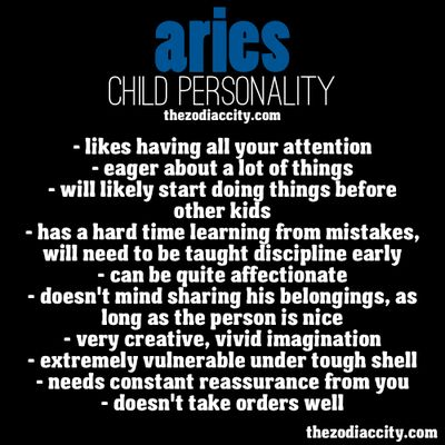 Aries Child Personality. Perfectly describes my childhood
