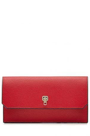 Valextra Valextra Portemonnaie aus Leder – Rot