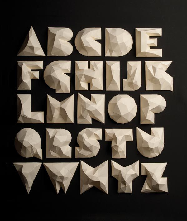 Elegant Cardboard Typography For EMPO By Li Siento Studio