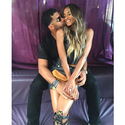 Ciara and Russell Wilson take a cute couple's photo for Instagram.   Essence.com