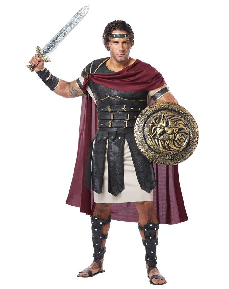 Homemade Roman Soldier Costume   Halloween Costumes Male Gladiator Adult Costume