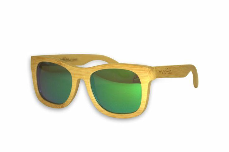 Madfas gafas en madera - CIRRUS – Natural / Lente Verde