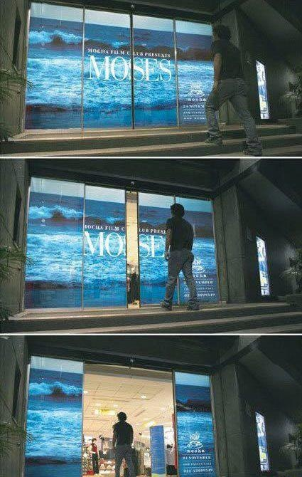 "Guerrilla Marketing to promote ""Moses"" movie. Agency: McCann Erickson, Indian"