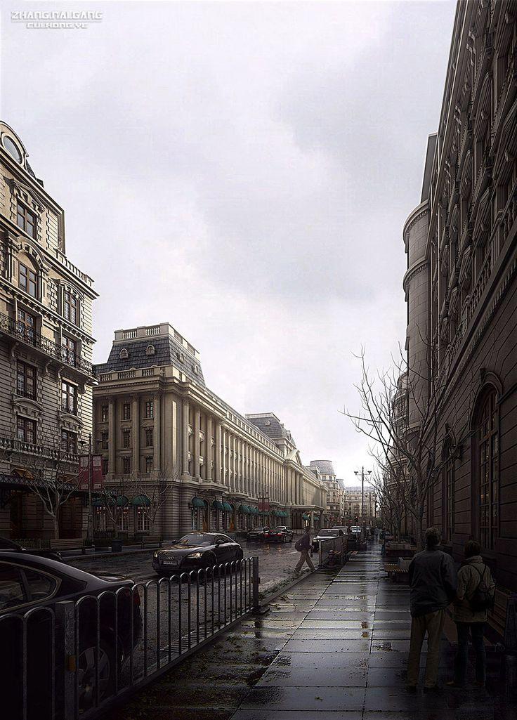 Author: Zhang Naigang Software: 3ds Max + V-Ray + Photoshop