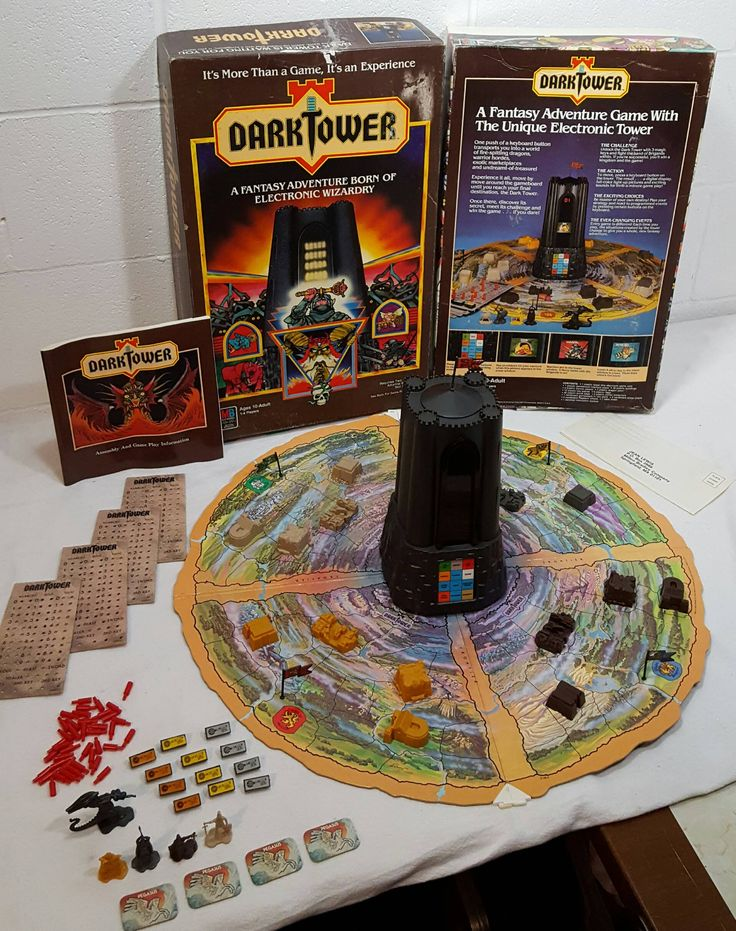 Found a holy grail board game today! 1981 Dark Tower by Milton Bradley. 100% complete and working!! - Imgur