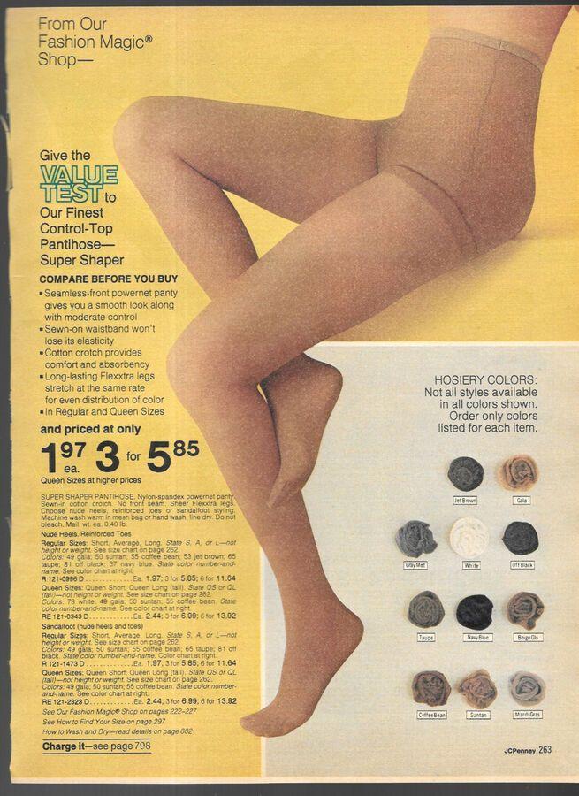 9927f808e Leggy Vintage Catalog Pantyhose Hosiery Lingerie Photo Clipping Catalog  Pantyhose Leggy