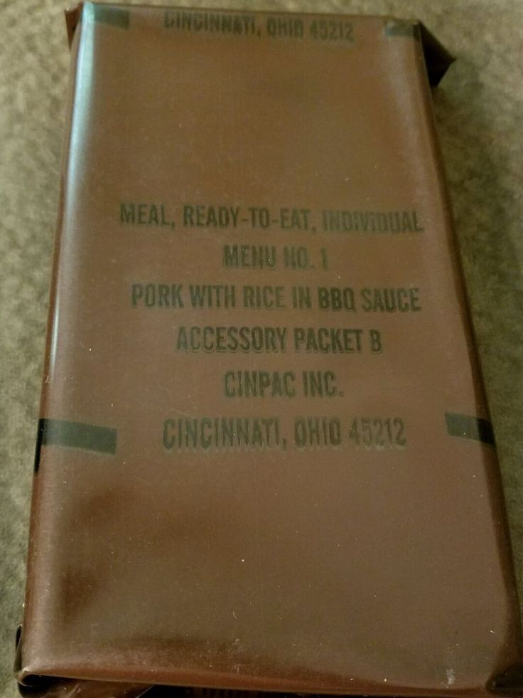#Vintage #MRE Menu 1 #Pork With #Rice #BBQ Sauce US #Military Ration #Meal Ready To #Eat