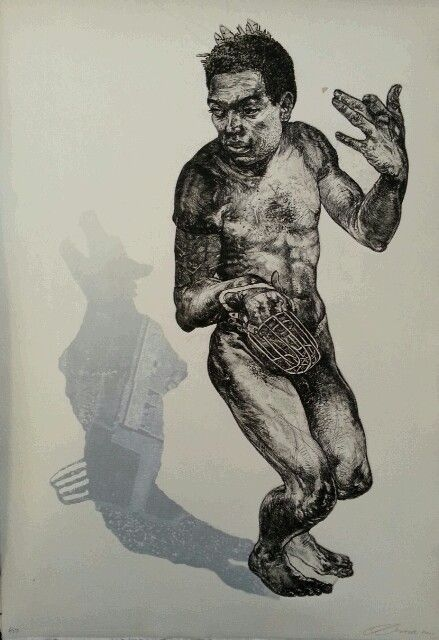 """Diane Victor / etching from """" Remembering Sharpville """""""