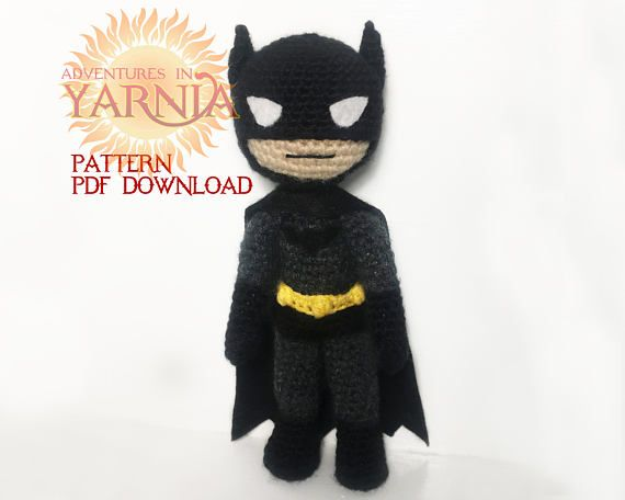 Batman Amigurumi Crochet Pattern PDF Instant Download