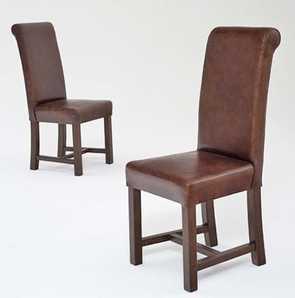 Distressed Leather Dining Chair Item Dc06008