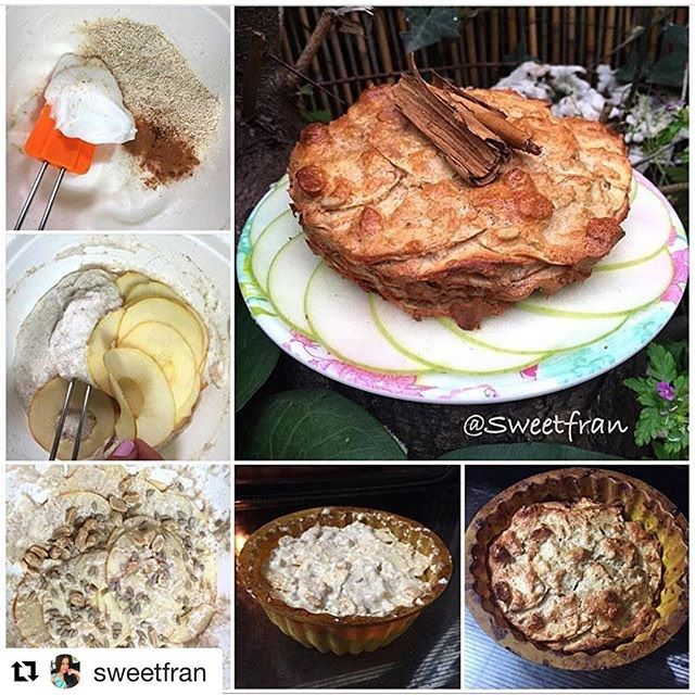 WEBSTA @ rincon.fitness - #Repost @sweetfran with @repostapp・・・ Les dejo esta fácil y deliciosa receta, que esta elaborada principalmente por 4 ingredientes: manzana, avena, claras y canela.✨Ingredientes:-1 manzana-2 claras de huevo-4 cdas de avena en polvo (tritura la normal)-2 cdas de canela-endulzante de tu preferencia, yo use stevia liquida.-1cda polvos de hornear-1 cda de vinagre blanco (o de manzana).✨Extras:-Maní o algún fruto seco que te guste. ️Preparación:1-Lava, quita el centro y…
