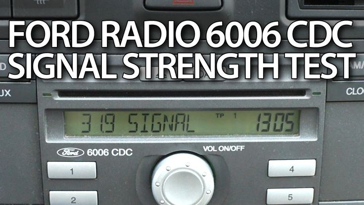 How to #test signal strength in #radio #Ford 6006 CDC #diagnostic mode #Mondeo #Fiesta #Focus #cars