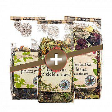 Zestaw herbat - Produkty Benedyktyńskie    W skład zestawu wchodzą trzy herbaty doskonałe na każdą porę roku.    1. Herbata leśna z maliną jest doskonałym źródłem witamin oraz substancji mineralnych. Zar...
