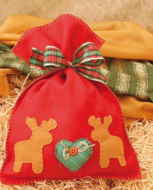 Saco de Natal - DIY, Christmas, Craft