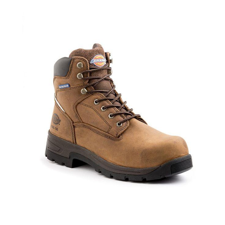 Dickies Stryker Men's Waterproof Steel-Toe Boots, Size: medium (10.5), Brown