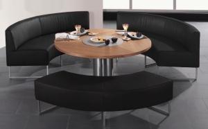 Koinor ronde eetbank / eethoekbank / eetkamerbank met bijpassende tafel